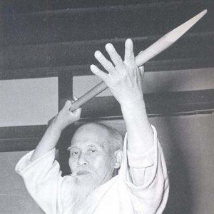 CORPS Aïkido - O Sensei Morihei UESHIBA avec une lance