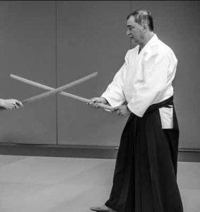 CORPS Aikido - Robert DALLESSANDRO Shihan prise de centre au boken