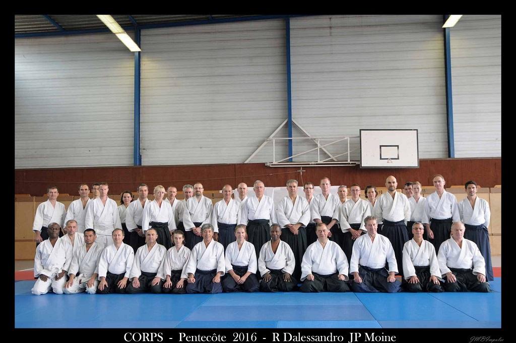 CORPS Aikido - M METRAT - Vénissieux - stage Pentecôte 2016 - Jean-Paul MOINE Shihan Robert DALESSANDRO Shihan
