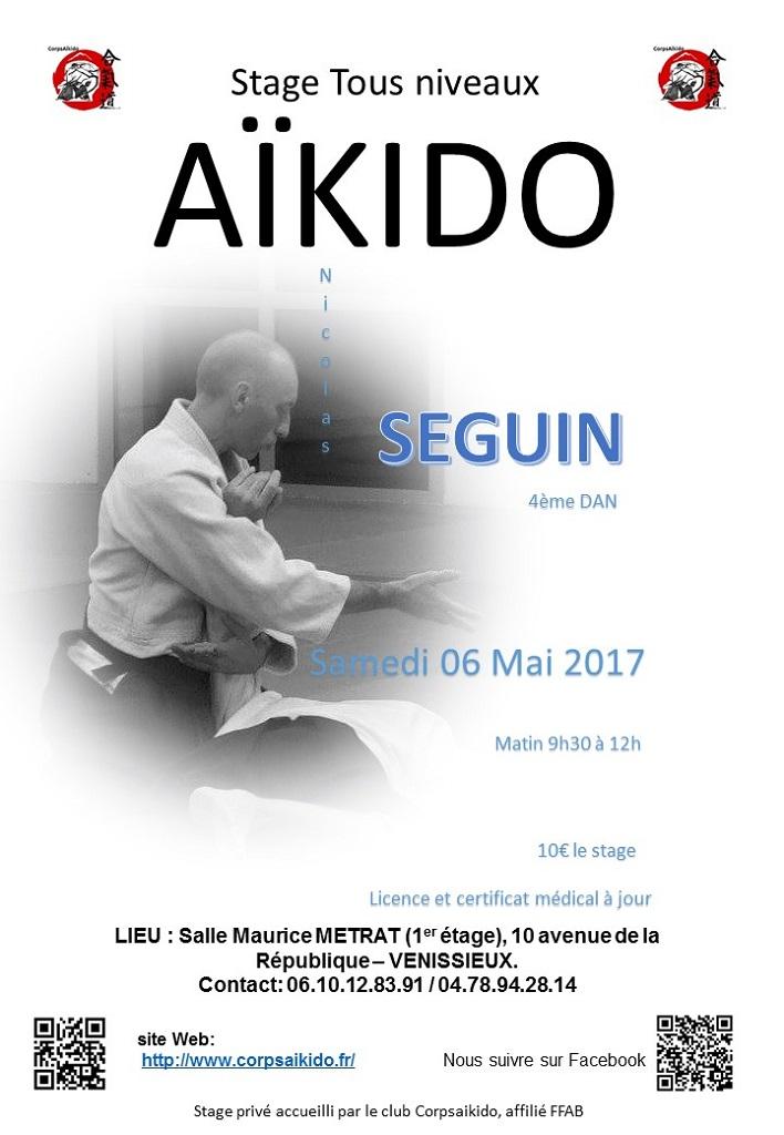 affiche stage Nicolas SEGUIN 6 Mai 2017