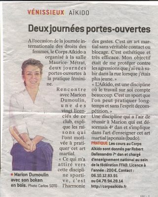 AIKIDO - CORPSAïkido - Journée Internationale des Femmes 2018 - Article LE PROGRES