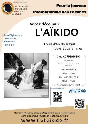 AIKIDO - CORPSAïkido - Journée Internationale des Femmes 2018