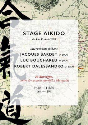 stage Aïkido 2018 - R. Dalessandro - L. Bouchareu - P. Bardet - Saugues, Auvergne